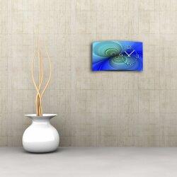 Digital Designer Art psycodelic blau Designer Wanduhr modernes Wanduhren Design leise kein ticken DIXTIME 3D-0359