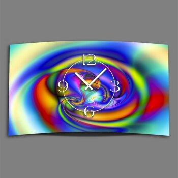 Digital Designer Art psycodelic circle Designer Wanduhr modernes Wanduhren Design leise kein ticken DIXTIME 3D-0358