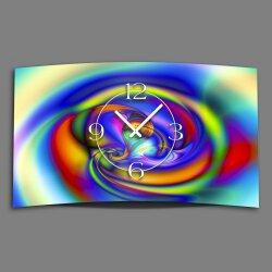 Digital Designer Art psycodelic circle Designer Wanduhr...