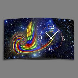 Digital Designer Art psycodelic night Designer Wanduhr...