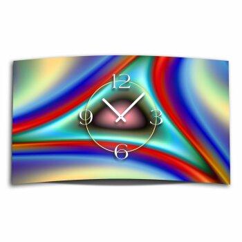 Digital Designer Art psycodelic Designer Wanduhr modernes Wanduhren Design leise kein ticken DIXTIME 3D-0353