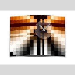 Wanduhr XXL 3D Optik Dixtime orange schwarz Mosaik 50x70...
