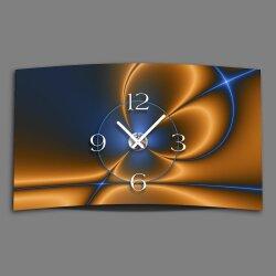 Digital Designer Art abstrakt  Designer Wanduhr modernes Wanduhren Design leise kein ticken DIXTIME 3D-0350