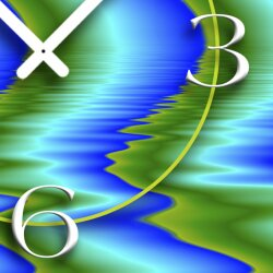 Digital Designer Art abstrakt Wellen Designer Wanduhr modernes Wanduhren Design leise kein ticken DIXTIME 3D-0346