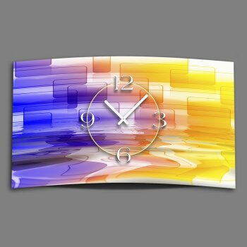 Digital Designer Art abstrakt Designer Wanduhr modernes Wanduhren Design leise kein ticken DIXTIME 3D-0345