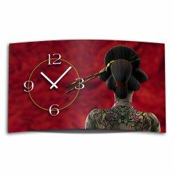 Digital Designer Art Geisha Designer Wanduhr modernes...