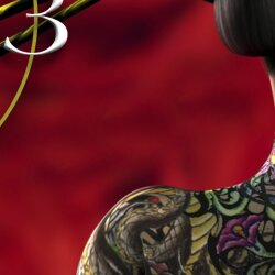 Digital Designer Art Geisha Designer Wanduhr modernes Wanduhren Design leise kein ticken DIXTIME 3D-0342