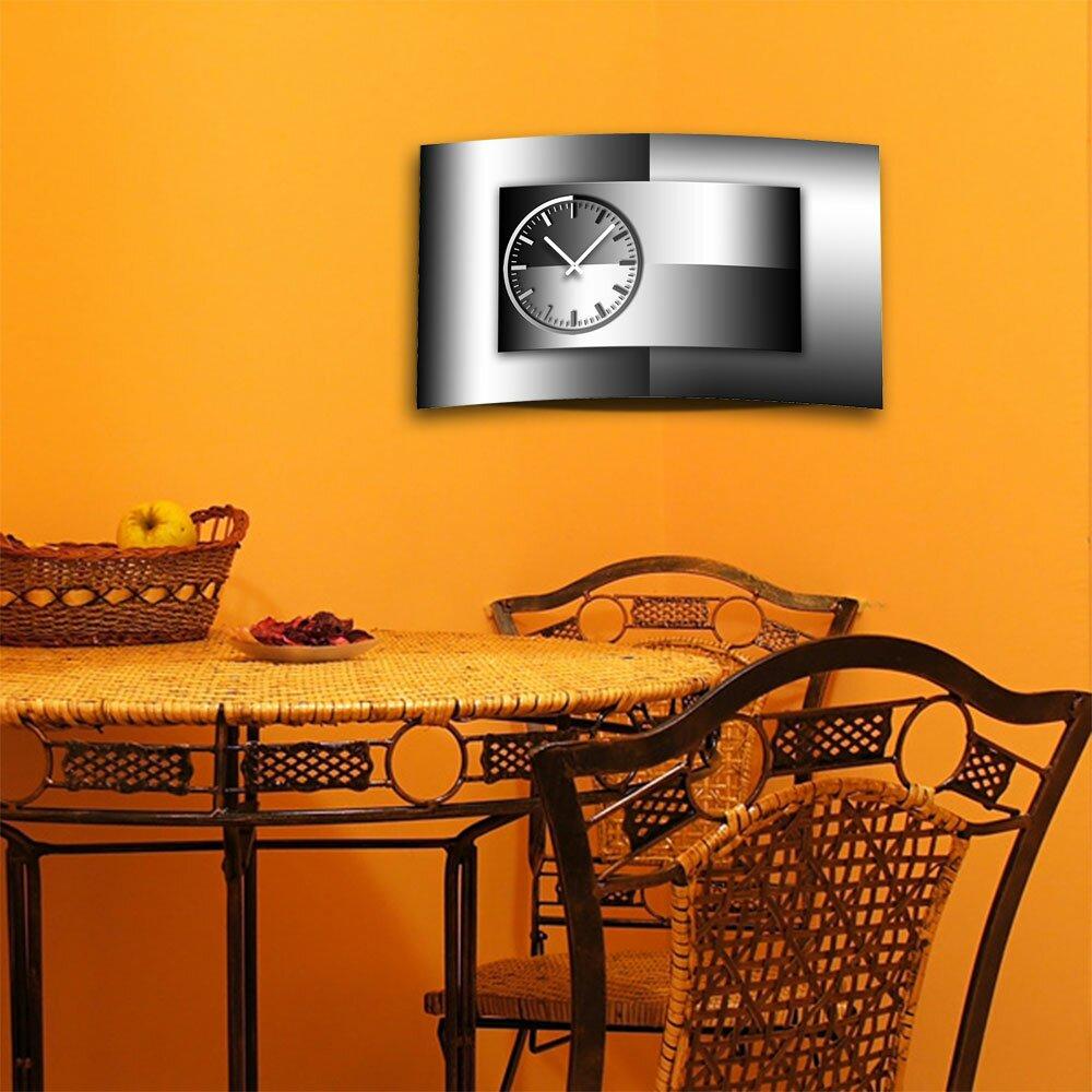 designer wanduhr von dixtime die mit der w lbung. Black Bedroom Furniture Sets. Home Design Ideas