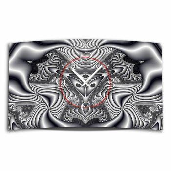 Digital Art sw Designer Wanduhr modernes Wanduhren Design leise kein ticken DIXTIME 3D-0338