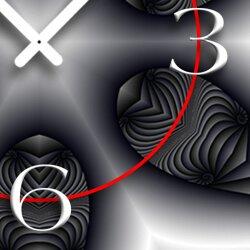 Digital Art sw Designer Wanduhr modernes Wanduhren Design leise kein ticken DIXTIME 3D-0337