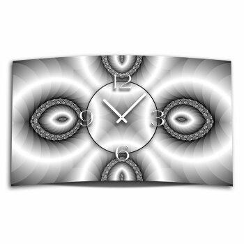Digital Art sw Designer Wanduhr modernes Wanduhren Design leise kein ticken DIXTIME 3D-0335