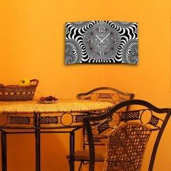 Digital Art sw Designer Wanduhr modernes Wanduhren Design leise kein ticken DIXTIME 3D-0334