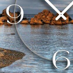 Motiv Klippen Strand Designer Wanduhr modernes Wanduhren Design leise kein ticken DIXTIME 3D-0331