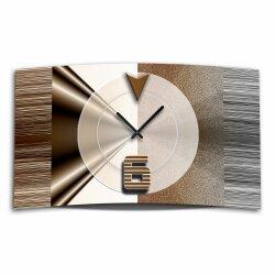Abstrakt braun Designer Wanduhr modernes Wanduhren Design...