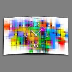 Abstrakt bunt Designer Wanduhr modernes Wanduhren Design leise kein ticken DIXTIME 3D-0326