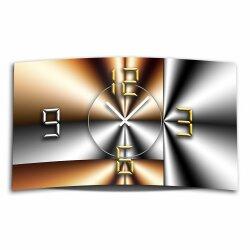 Abstrakt metallic Designer Wanduhr modernes Wanduhren...