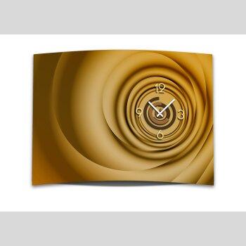 Wanduhr XXL 3D Optik Dixtime modern orange braun 50x70 cm leises Uhrwerk GR-033