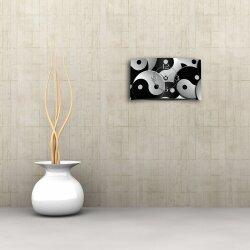 Motiv Yin Yang Designer Wanduhr modernes Wanduhren Design leise kein ticken DIXTIME 3D-0321