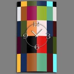 Color Blocking Designer Wanduhr modernes Wanduhren Design leise kein ticken DIXTIME 3D-0320