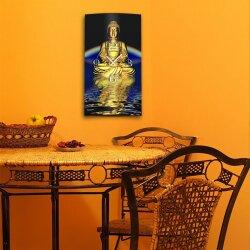 Motiv Buddha Zen Designer Wanduhr modernes Wanduhren Design leise kein ticken DIXTIME 3D-0319