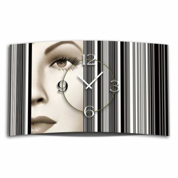 Digital Art Frau Designer Wanduhr modernes Wanduhren Design leise kein ticken DIXTIME 3D-0318