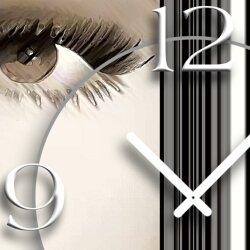 Digital Art Frau Designer Wanduhr modernes Wanduhren Design leise kein ticken DIXTIME 3D-0317