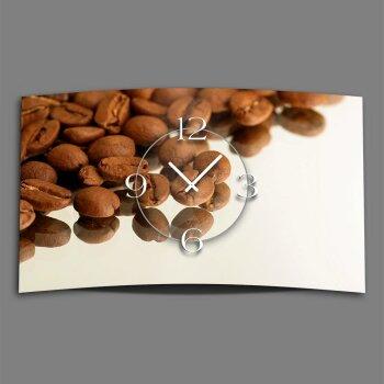 Motiv Kaffeebohnen Designer Wanduhr modernes Wanduhren Design leise kein ticken DIXTIME 3D-0313