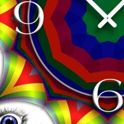 Digital Art Augen Designer Wanduhr modernes Wanduhren Design leise kein ticken DIXTIME 3D-0312