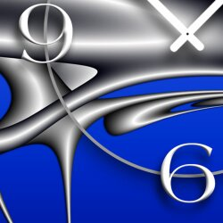 Digital Art Designer Wanduhr modernes Wanduhren Design leise kein ticken DIXTIME 3D-0308