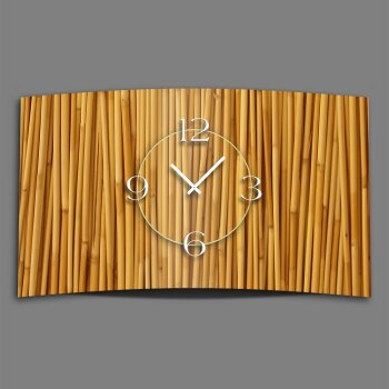 Motiv Bambus Natur Designer Wanduhr modernes Wanduhren Design leise kein ticken DIXTIME 3D-0299