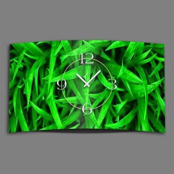 Natur Grashalme Designer Wanduhr modernes Wanduhren Design leise kein ticken DIXTIME 3D-0296