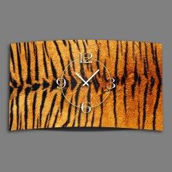 Animalprint Fell Tiger Designer Wanduhr modernes...