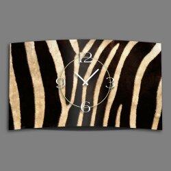 Animalprint Zebra Fell Designer Wanduhr modernes...