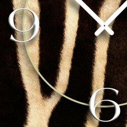 Animalprint Zebra Fell Designer Wanduhr modernes Wanduhren Design leise kein ticken DIXTIME 3D-0294
