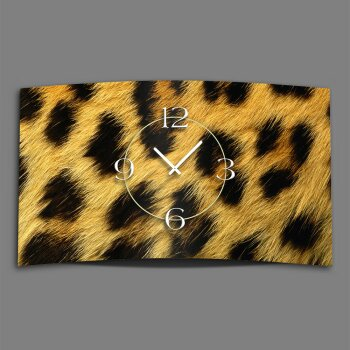 Leo Fell Animalprint  Designer Wanduhr modernes Wanduhren Design leise kein ticken DIXTIME 3D-0293