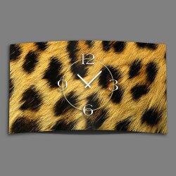 Leo Fell Animalprint  Designer Wanduhr modernes Wanduhren...