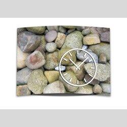 Wanduhr XXL 3D Optik Dixtime Steine Natur 50x70 cm leises Uhrwerk GR-026
