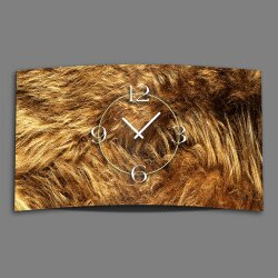Animalprint Fell Designer Wanduhr modernes Wanduhren...
