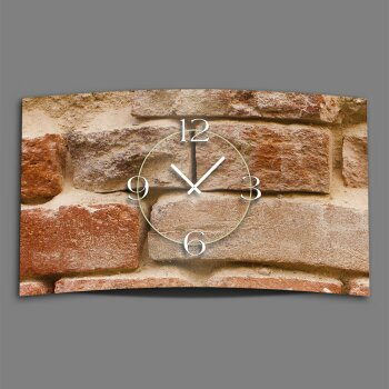 Mauer Stein  Designer Wanduhr modernes Wanduhren Design leise kein ticken DIXTIME 3D-0286