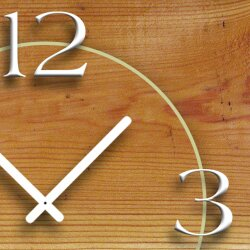 Vintage Holz Optik Designer Wanduhr modernes Wanduhren Design leise kein ticken DIXTIME 3D-0285