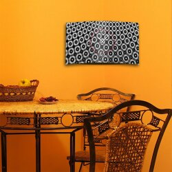 Retro Muster grau Designer Wanduhr modernes Wanduhren Design leise kein ticken DIXTIME 3D-0281