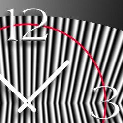Digital Art grau Designer Wanduhr modernes Wanduhren Design leise kein ticken DIXTIME 3D-0280