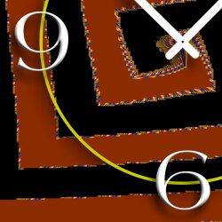 Digital Art Spirale Designer Wanduhr modernes Wanduhren Design leise kein ticken DIXTIME 3D-0278