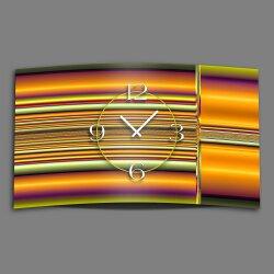 Digital Art Streifen bunt Designer Wanduhr modernes...