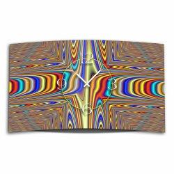 Digital Art Psychedelic Designer Wanduhr modernes...