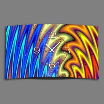 Digital Art liquid bunt Designer Wanduhr modernes Wanduhren Design leise kein ticken DIXTIME 3D-0274