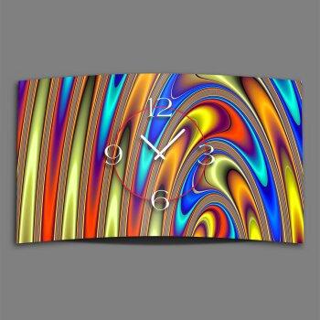 Digital Art liquid bunt Designer Wanduhr modernes Wanduhren Design leise kein ticken DIXTIME 3D-0273