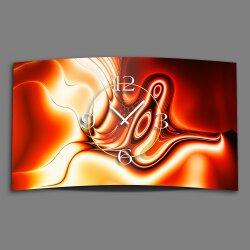 Digital orange rot Designer Wanduhr modernes Wanduhren...