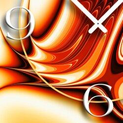 Digital orange rot Designer Wanduhr modernes Wanduhren Design leise kein ticken DIXTIME 3D-0270