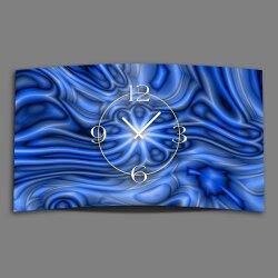 Abstrakt blau Designer Wanduhr modernes Wanduhren Design...